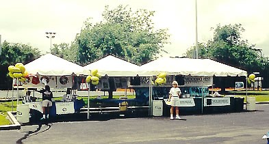 Houston Small Tent Booth Event Rentals